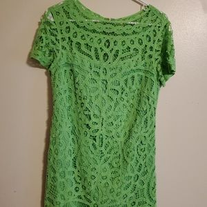 Lilly Pulitzer | Green Lace Dress